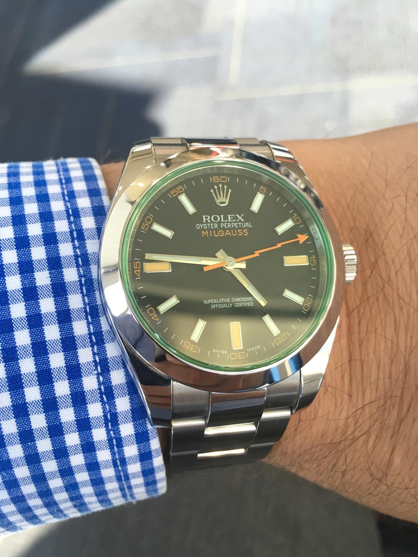 Rolex milgauss gv for Rolex milgauss